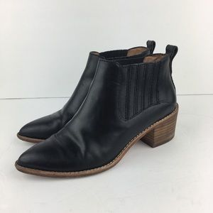 Madewell Black Booties with Stacked Heel Chelsea 6